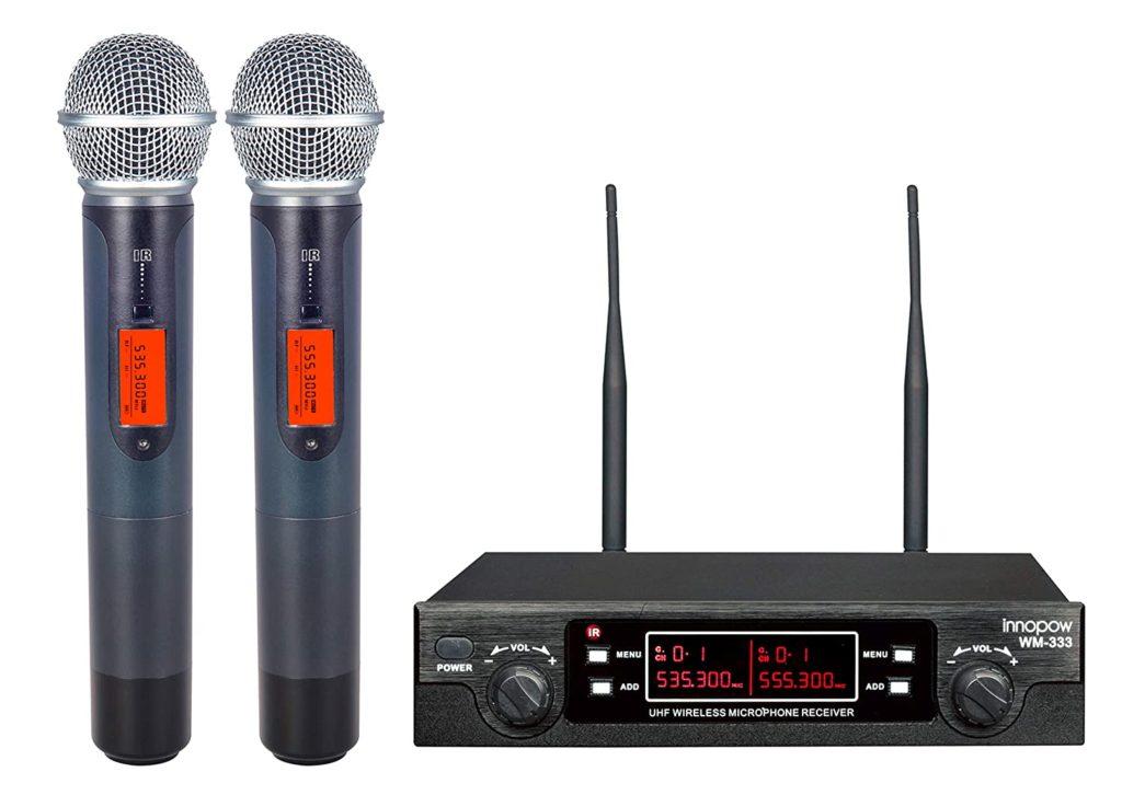 innopow 80-Channel Dual UHF Wireless Microphone System