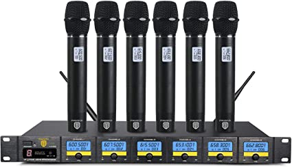 PRORECK MX66 6-Channel UHF Wireless Microphone